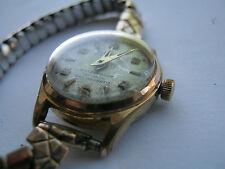 Vintage Swiss allaine enchapados en oro señoras reloj mecánico Ancre 17 Rubis Ss posterior