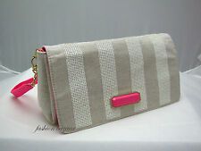 Victoria's Secret TAN CANVAS-SEQUIN CLUTCH PURSE >>NEW WITH TAG<<