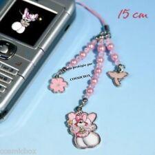 DIDDL pendentif portable DIDDLINA bijoux perles roses handyanhanger mobile phone