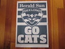 HERALD SUN GEELONG GO CATS 2011 AFL NEWSPAPER POSTER