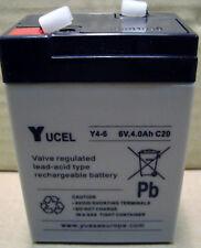 YUASA YUCELL 6 VOLT 4AH BATTERY ELECTRIC TOY CAR GENUINE Y4-6, NP4-6, NP4.5-6