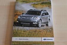 103090) Subaru Outback Impreza WRX STi Tribeca - USA - Pressemappe 2010