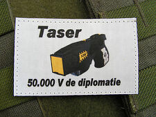 SNAKE PATCH - TASER 50.000 Volt de diplomatie - X26 BAC BRI PSIG Art FANTAISIE