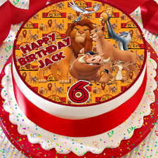LION KING HAPPY BIRTHDAY PERSONALISED 7.5 INCH EDIBLE CAKE TOPPER B-042G