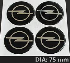 4pcs x Opel Vauxhall 75 mm Wheel Center Vinyl Sticker Decal Badge Emblem Logo