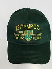US Army 127th MP Co 2012 Qui Nhon Vietnam Reunion Washington DC Ball Cap Hat
