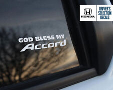 God Bless my Honda Accord window sticker decals graphic