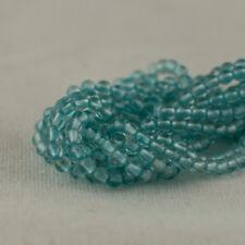 "Grade AA Natural Apatite Semi-Precious Gemstone Round Beads - 2mm - 15.5"""
