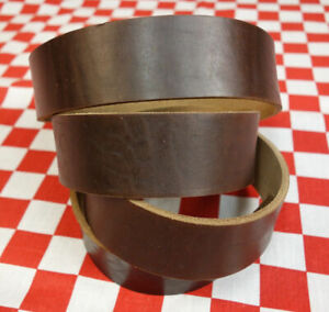 THICK BROWN CHROMEXCEL 10 oz. HORWEEN LEATHER STRAPS, VARIOUS SIZES AVAILABLE.