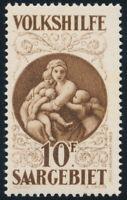 SAARGEBIET 1928, MiNr. 134, Madonna, sauber ungebraucht, gepr. Ney, Mi. 460,-
