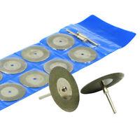 20mm Mini Diamond Saw Blade Coated Rotary Cutting Cut Off Wheels Disc 10pcs #D
