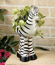 Zebra Safari Animal Planter Flower Pot Garden Outdoor Indoor Plants