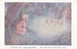 Hilda Miller   Girl watches Fairies dance in Wood