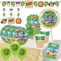 Safari Animals Tableware, Decorations & Balloons