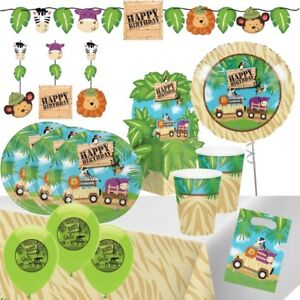 Safari Animals Tableware, Decorations & Balloons