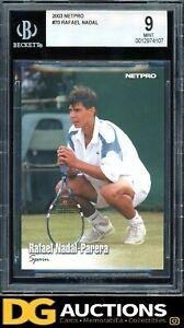 2003 NetPro Tennis Rafael Nadal Parera ROOKIE RC #70 BGS 9 MINT