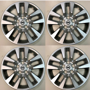 """4 NEW 16"""" Silver Hubcap Wheelcover that FITS 2007-2018 Nissan ALTIMA hub cap"""