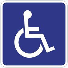 Autocollant adhésif Sticker Picto Toilette Handicapé Lieu public Restaurant 10cm