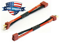 6in Deans Plug (T-Connector) Extension Cable Wire for RC LiPO Battery (2Pcs)