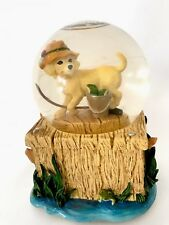 San Francisco Water Globe Music Box Tune In The Good Old Summer Time Yellow Lab