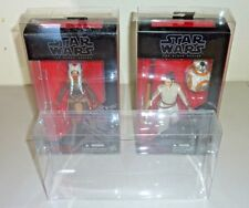 2 black series star wars figure box protector clear display case very thick