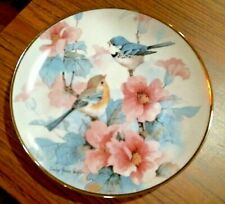 "Springtime Serenade Franklin Mint 8"" Bird Plate Ltd Ed Carolyn Shores Wright"