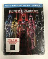 Saban's Power Rangers Limited Edition Blu-Ray DVD Steelbook w/ Graphic Novel NEW