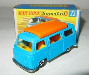 MATCHBOX SUPERFAST - No. 23 VW VOLKSWAGEN CAMPER