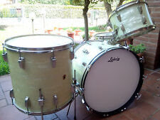 WFL LUDWIG vintage WHITE MARINE PEARL SUPER CLASSIC 1957 drum set kit BATTERIA