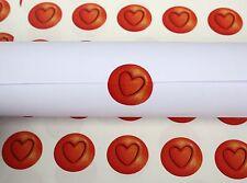 60 Corazón Rojo pegatinas de San Valentín Tarjetas Invitaciones De Boda Vidrio calcomanías (65)