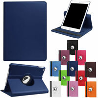 For iPad 9.7 2018 6th Gen 2017 5th 360 Rotating Leather Flip Smart Stand Case