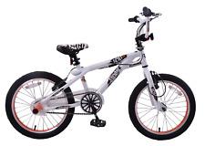 """Kent Rampage 18"""" Wheel Freestyler BMX Kids Bike White/black Stunt Pegs 360 Gyro"""