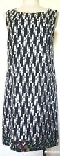 Catherine Malandrino Silk Check Sheath Dress w/ Mirror Designs Size 6