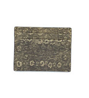 Etro Mens Leather Card Holder Wallet With Lizard Efect $215