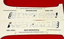 Toyota Landcruiser 100 Series Side Twin Cam Multivalve Decal Light Genuine