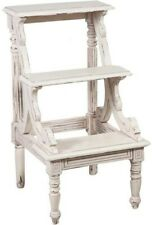 Scala scaletta per libreria bianca in legno massello trescalini legno SHABBY