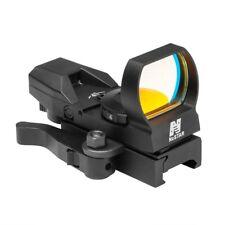 NcStar D4BGQ Green 4 Reticle Reflex Optic LED Sight with QR Mount Aluminum