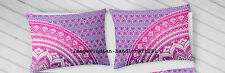Pink Ombre Mandala Sofa Pillow Case Cover Indian Cotton Cushion Cover Throw