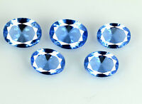 5Pcs Blue Tanzanite Natural 5.55 Ct Gemstone Lot Oval 9 X 6 mm AGSL Certified