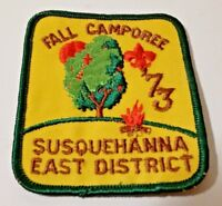Boy Scout 1973 Fall Camporee Susquehanna east Pa District Patch
