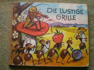 Die lustige Grille - sehr lehrreich - V. Kubasta J. Z. Novak DDR Kinderbuch