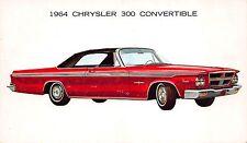 Advertising Postcard 1964 Chrysler 300 Convertible Automobile~108370