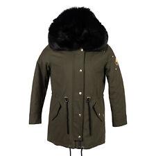 Moose Knuckles Steller Canvas Parka Olive /Blk Fur/Multi Women XL Coat/Jacket