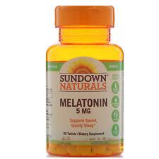 Paquete de 2 - Sundown Naturals Melatonina Extra Fuerza 5 Mg, 90 Pastillas Cada