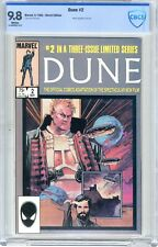 Dune # 2  CBCS  9.8  White pgs  5/85  Movie adaptation continues  B. Sienkiewicz