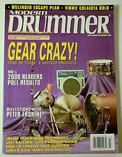 Modern Drummer Magazine July 2000 Gear Crazy Peter Erskine