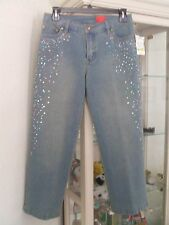 V Christina Rhinestone Jeans Size 4P NWT !!!