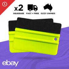 2 x Pro Car Wrapping Vinyl Squeegee Scraper Tool Wrap Soft Felt Edge 3M Plastic