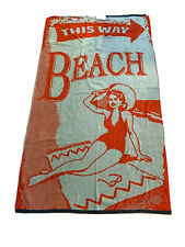 NWT-Noble Excellence Beach Towel 40x70 100% cotton NE -This Way Beach
