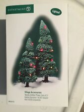 DEPT 56 GENERAL VILLAGE Accessories TWISTY GLITTER PINE TREES Set 2 NIB (B)